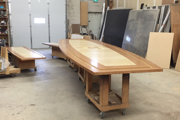 BOARD ROOM TABLE & CREDENZA